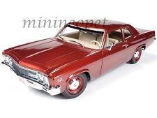 AUTOWORLD AMM1053 1966 66 CHEVROLET BISCAYNE COUPE 1/18 DIECAST BRONZE