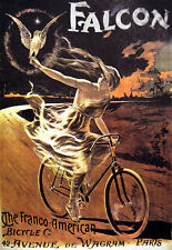 Deco - Poste Falcon - French American - Bicycle  - Bike A3 Art Poster Print