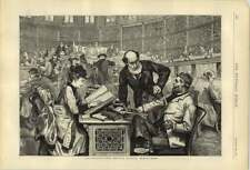 1874 The Reading Room In The British Museum Drawn By C Gregory