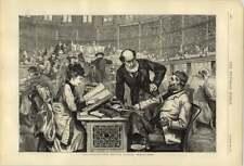 1874 la sala de lectura en el Museo Británico dibujado por C Gregory