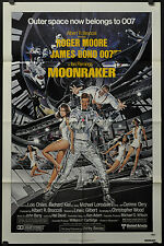 MOONRAKER 1979 ORIG 27X41 MOVIE POSTER JAMES BOND ROGER MOORE MICHAEL LONSDALE