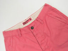 S3955 SUPERDRY SHORTS PANTS ORIGINAL PREMIUM CHINOS PINK CASUAL size S