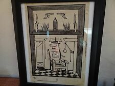 """Andy Warhol woodblock print rare Electric Chair 19""""x13.75"""" pencil signed"""
