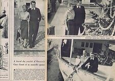 Coupure de presse Clipping 1958 Gary Grant (2 pages)
