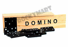 Dominoes Classic Wooden Tile Game - Travel Size Wood Box / Case - 28 pc RM1339