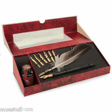 Calligraphy Feather Pen Set with Stylus & Ink by Authentic Models MG118