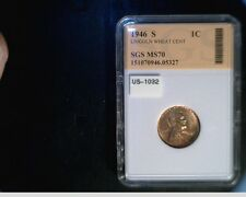 1946-S US Lincoln Wheat Cent, Very High Grade Copper Penny  (US-1032-3)