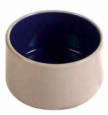 Cream & Blue Small Ceramic Bowl for Small Animals Hamsters Mice Birds 100ml/7cm