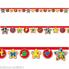 DISNEY Mickey Mouse giocoso Clubhouse Happy Birthday Party Ritaglio Banner