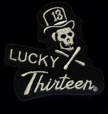 Lucky 13 Skull Patch Top Hat Tattoo Hot Rod Motorcycle