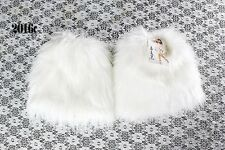 women's Fluffy Fuzzy Faux Fur Fashion/Dance Leg Warmers Muffs Boot Covers 20cm