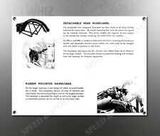 VINTAGE ROYAL ENFIELD 1938 REAR MUDGUARD IMAGE BANNER NOS IMAGE REPRODUCTION