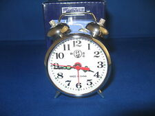 Silver Plated Old Fashioned Alarm Clock Wind Up No Batteries Required USA Stock