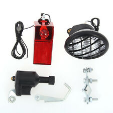 Economic 6V 3W Bike Generator Dynamo Headlight Tail Light Lamp Rear Set