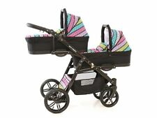 Baby pram for brothers ONYX TANDEM 3in1 with seat car or 2in1 pushchair+carrycot