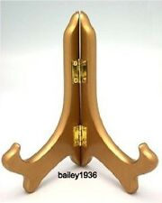 """5"""" Small Gold Wood Easel Plate Stand Tripar 23-1249B HIGH QUALITY"""