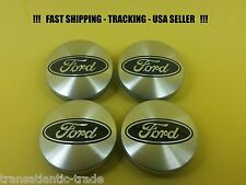4 x Center Cap For Ford 54mm Fusion Escape Focus Fiesta Logo Wheel Caps Silver