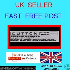 DUTTON LOTUS 7 FORD ESCORT CORTINA MG MIDGET SERIES ALL-BLANK-VIN-CHASSIS-PLATES