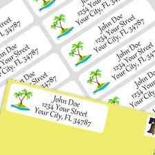 800 Personalized Return Self-adhesive Address Labels-Palm Trees