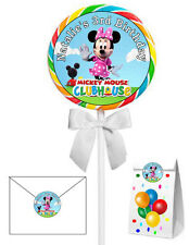 40 MINNIE MOUSE CLUBHOUSE BIRTHDAY PARTY LOLLIPOP STICKERS ~ goody bags, seals