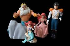 Disney Little Mermaid Ariel Prince Eric Triton Figures Cake Toppers Lot of 4