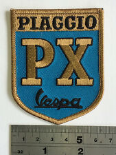 Vespa PX BLUE Patch - Embroidered - Iron or Sew On