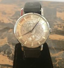 Men's Vintage Waltham Mechanical Wrist Watch Pie Pan Dial Swiss Made 7 Jewels