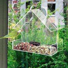 Finestra di vetro Mangiatoia tabella Semi di Arachidi da appendere ASPIRAZIONE perspex chiara visualizzazione