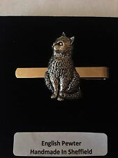 A15 Cat  English Pewter emblem on a Tie Clip (slide)