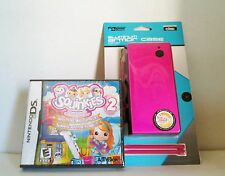 NEW Sealed Hot Pink Aluminum Shell & 2 Stylus Nintendo DSi + Squinkies 2 Game