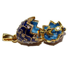 Poussin Or Pendentif oeuf surprise, Oeuf style Faberge pendentif Poussin d' Or