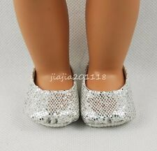 Silver Shoes Footwear For 18'' American Girl Dolls Clothes Girl Gifts