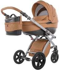 Knorr Baby Kombi-Kinderwagen Alive Pure Camel Leder-Optik + Zubehör 2580-4