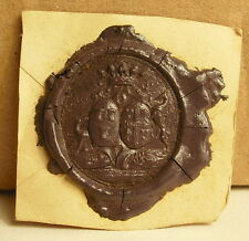 De Leourion de Beaufort Cachet de cire armoiries seal Sceau tampon héraldique