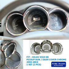 TOYOTA HILUX VIGO SR5 MK6 2005 - 2011 CHROME DASH GAUGE COVER TRIM