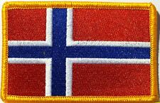 NORWAY Flag Patch With VELCRO® Brand Fastener Military Emblem