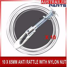 10x65MM ANTI RATTLE LATCHES/CATCHES WITH NYLON NUTS FOR TRAILER TAILGATE