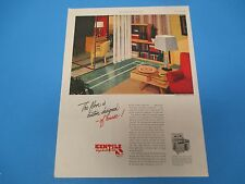 1948 Kentile Asphalt Tile, The floor is custom designed, Print Ad  PA007