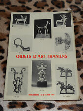 Catalogue Drouot, Me Rheims - Objets d'art iraniens, 21-22/06/1960