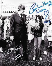 Richard Kiel / Caroline Munro  Autograph , Original Hand Signed Photo