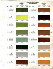 1972 FORD MUSTANG TORINO MERCURY COUGAR COMET LINCOLN MARK PAINT CHIPS DUPONT 10