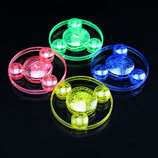 4PCS Colorful Spin LED Light Outdoor Flying Saucer Disc Frisbee Kids Toys Fun