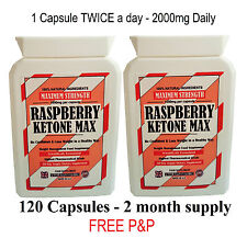 RASPBERRY KETONE MAX CAPSULES WEIGHT LOSS FAT BURNERS SLIMMING DIET PILLS BID.16