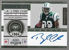 2011 Panini Contenders Bilal Powell On Card Auto SP Rc QUANTITY OF S.P Rc's!