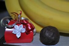 Banana Cream Truffles - White/Dark Chocolate - Hand Made -  (BOX OF 4)