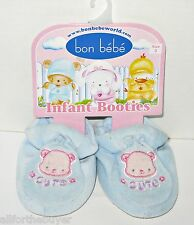 BON BEBE BABY BOYS BLUE SLIPPERS SIZE 3 FITS 3 TO 6 MTHS  NEW