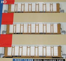Walthers ~3 Car Set~ TTX Trailer Train 63' Pulpwood Cars~~New Old Stock~HO Scale