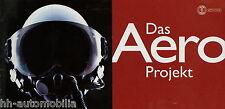 Prospekt Saab Aero Projekt Folder 1999 Autoprospekt brosjyre broschyr brochure
