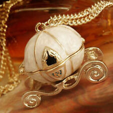 Fashion jewelry Retro Pumpkin Cart Locket Gold Tone Long Sweater Chain Necklace