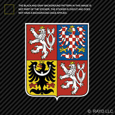 Czech Coat of Arms Sticker Decal Self Adhesive Vinyl Czech Republic flag CZE CZ